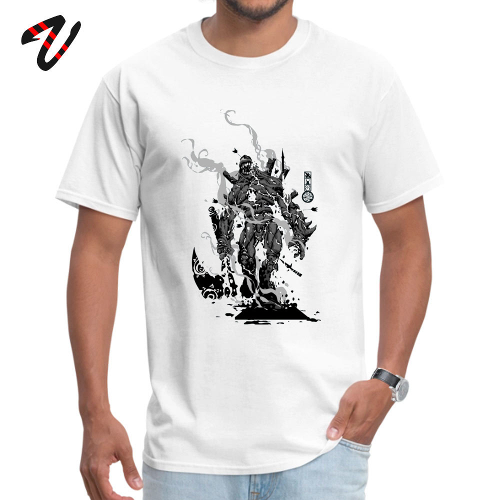 Crazy All Cotton T Shirts for Men Short Sleeve Design Tops T Shirt Brand Summer Crewneck Top T-shirts Design Wholesale The Game of Kings Wave Two The Black King Bish white