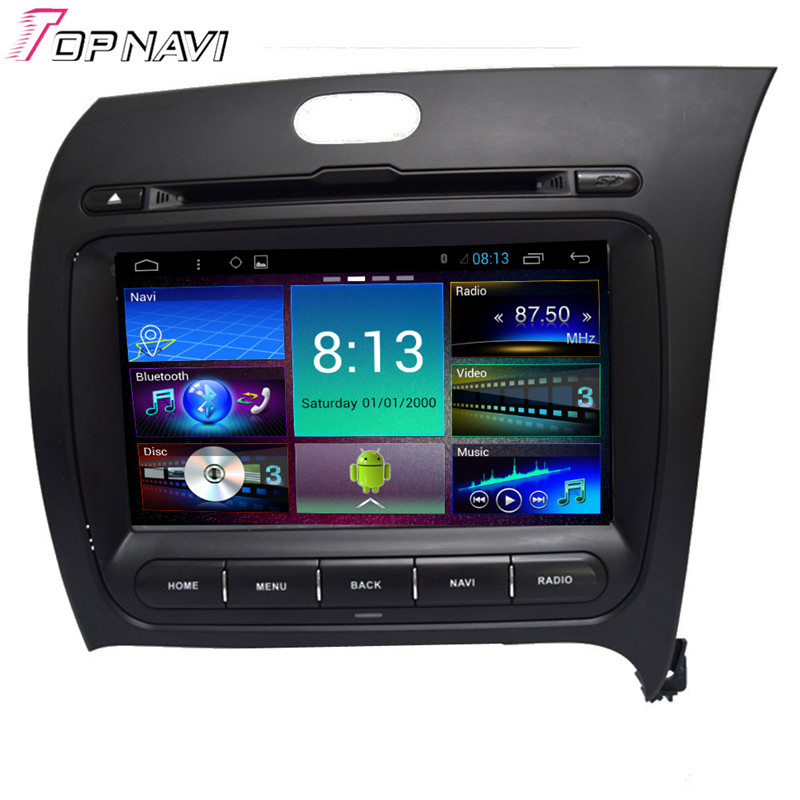Top 8'' Quad Core Android 4.4 Car DVD GPS For KIA K3 With 16GB Flash Mirror Link Radio Audio Stereo Map Free Shipping