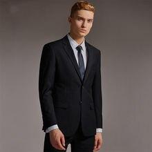 Черный деловой Блейзер приталенный индивидуальный пошив смокинги