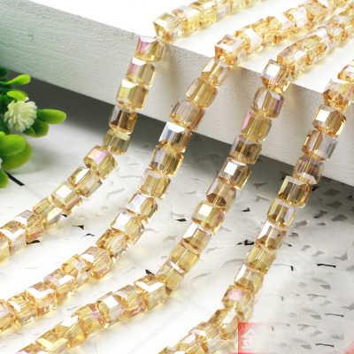 STENYA 4mm lujo cubo cuadrado cuentas de cristal checo cuentas de piedra joyería hallazgos espaciador encantos pulsera collar Accesorios