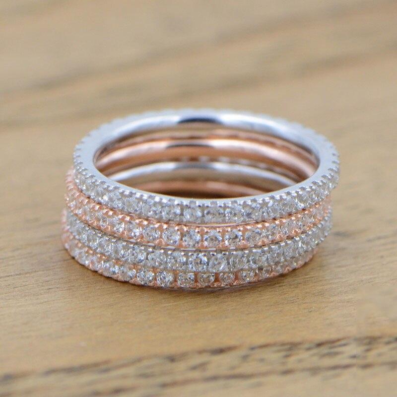 100% QualitäT 100% Echt 925 Sterling Silber Ringe Für Frauen Einfache 2019 Klassische Hochzeit Ring Exquisite Cz Mode Weibliche Großhandel Schmuck