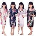 D1686 Novo Garoto Robe Kimono Robes de Seda floral Da Dama de honra Vestido Da Menina Flor Crianças Roupão Sleepwear Roupa Do Bebê Roupão