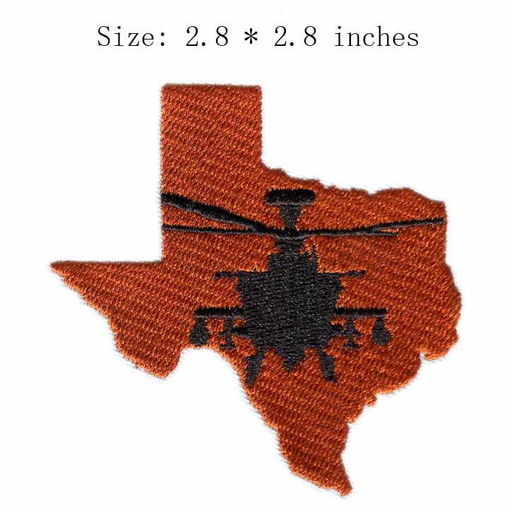 American state 2.8 wide embroidery patch for map/airplane/flying