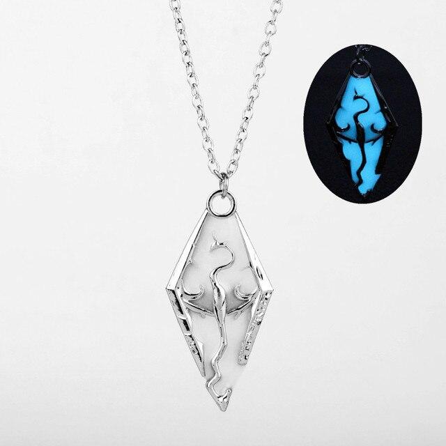 Ожерелье с подвеской в виде дракона Skyrim -