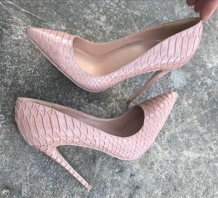 8 10 Cm Sexy Cm Pompes Pointu Luxe De Chaussures Cm Femme Dames 10 Stilettos 8 Imprimé Talons nude Cm 12 Serpent Femmes Mariage Nu Partie Hauts xqS4YFqwg