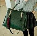 Новая коллекция 2017 женщин сумки посыльного плед биг-бэги сумка случайные старинные мешок женщин сумки на ремне кисточкой сумка женщины сумка