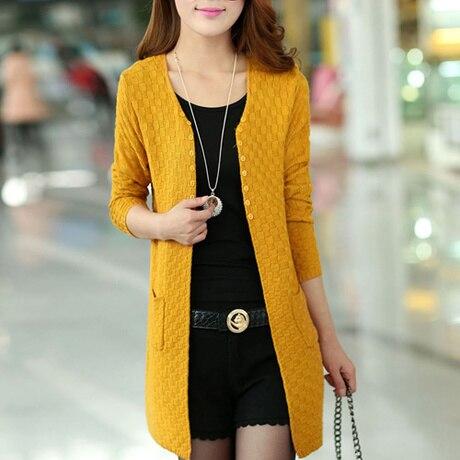 נשים סוודר ארוך סוודר סוודרים נשיים דקים סריגים קרדיגן שרוול ארוך בסגנון אופנה קיץ משלוח חינם