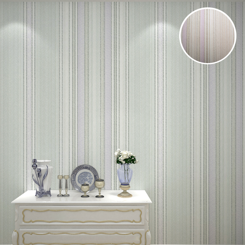 Modern Contemporary Textured Vertical Striped Wallpaper For