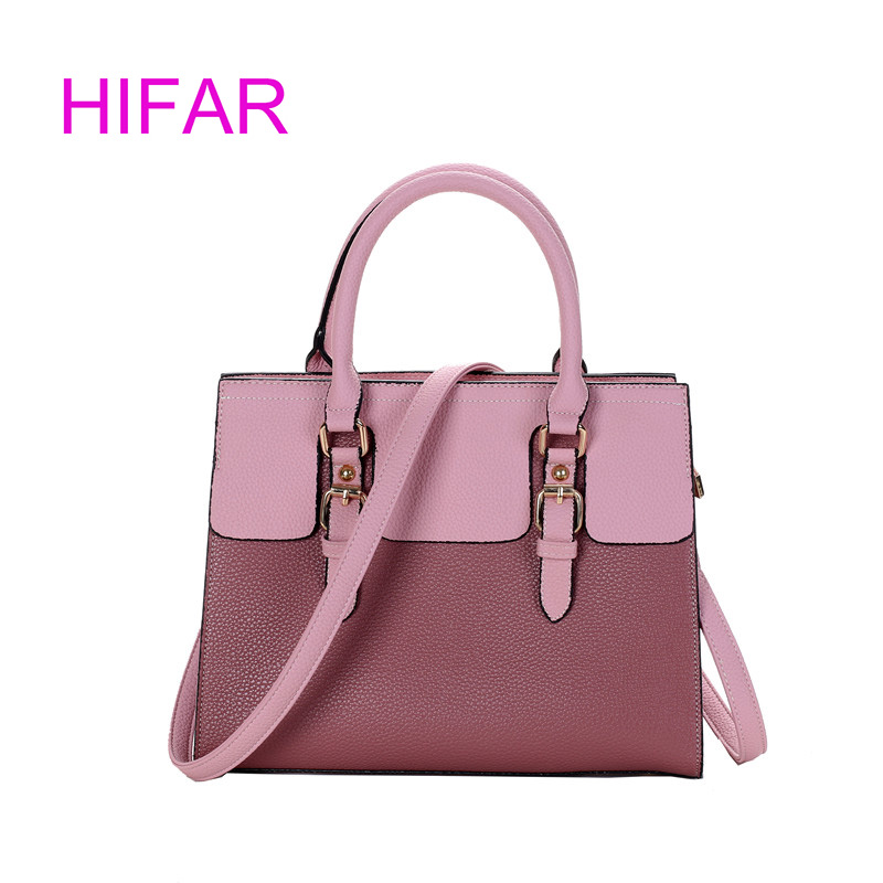 free shipping2018 new Lady handbag ladies Europe and America fashion PU leather hit color Shoulder Messenger Bag Women's handbag yuanyu 2018 new hot free shipping python leather handbag leather handbag snake bag in europe and the party hand women bag