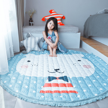 145cm Cotton Reversible Carpet ,Pope Woven Solid Color Round Rug Cushion Circular living Room Bedroom Washed Ca