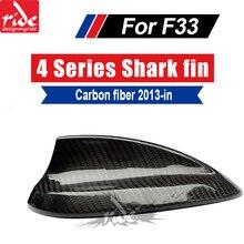 F36 Carbon Fiber Shark Fin For BMW 4-doors Convertible 420i 428i 428ixD 430i 435i 440i Roof Antenna Cover 2013-in