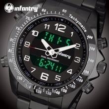Мужские часы от ведущего бренда, роскошные аналоговые цифровые военные часы, мужские армейские светящиеся часы для мужчин, браслет Relojes Masculino