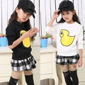 Cotton cartoon duck children girl long sleeve coat clothes Hoodies Sweatshirts