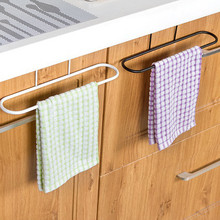 kitchen cabinet storage rack hanging kitchen cabinet door trash rack towel storage garbage rag bags holder - Trash Bag Holder