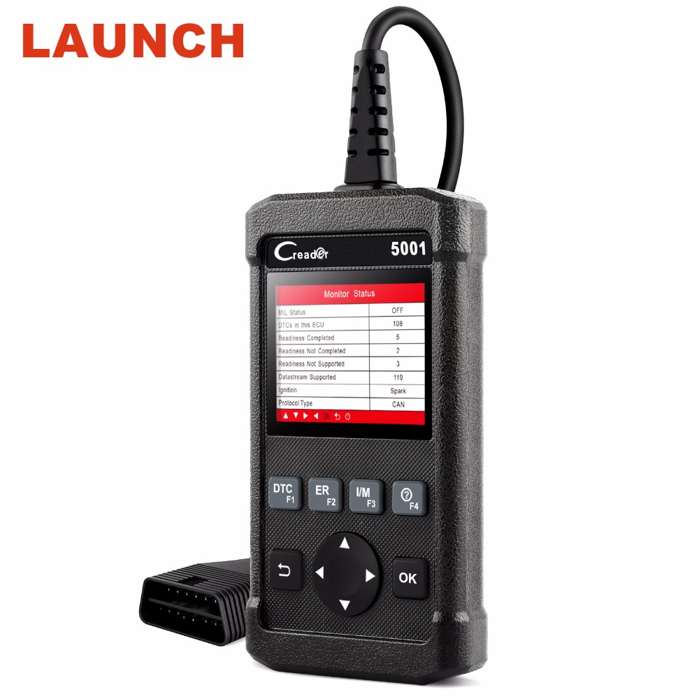 купить Launch CR5001 CReader ODB2 OBD2 Scanner Car Diagnostic Tool Universal Engine Code Reader Clear DTCs Live Data Stream Scanner по цене 2906.21 рублей