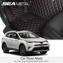 For LHD Toyota RAV4 XA40 2017 2016 2015 2014 2013 Car Floor Mats Rugs Auto Rug Covers Car-Styling Custom Leather Pad Accessories