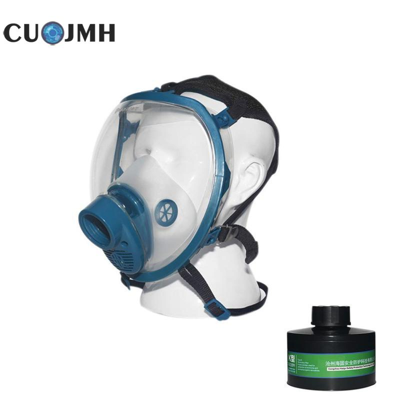 K 4 Grade Two Tank 800 Face Mask Full Facepiece Respirator Gas Mask Facility Safety Uv Protection Dedicated Face Mask цена 2017