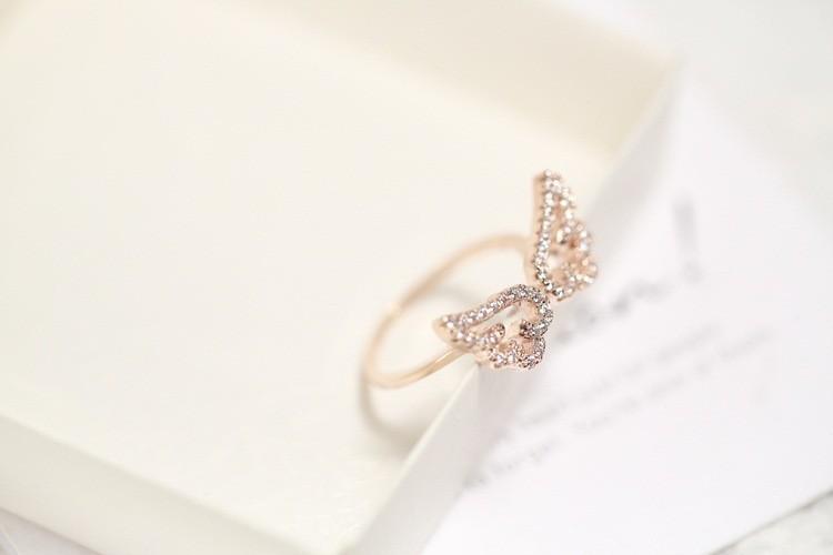 Zircon Angel Wings Ring