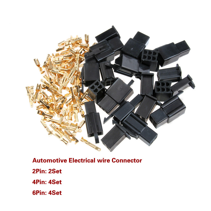580pcs Motorcycle Car Electrical Wire Connector Terminal 2.8mm 2//3//4//6//9 Pin Kit