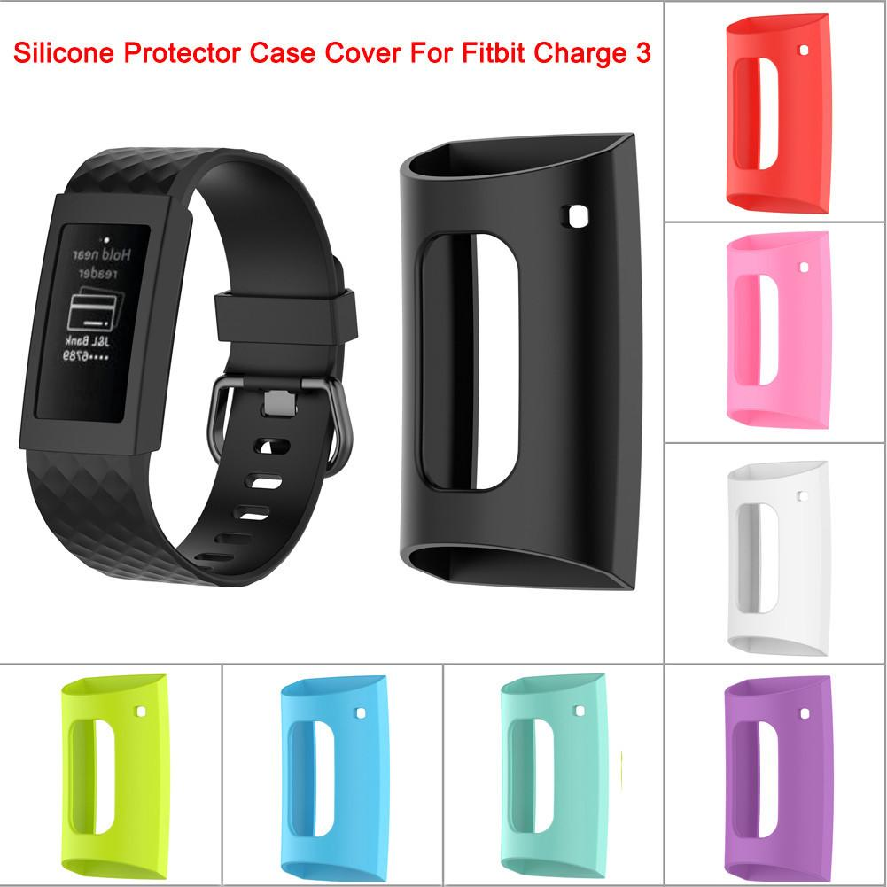 For Fitbit Charge 3 Fitbit Charge3 Smart Bracelet Silicone Protector Case Smart Band Protective Shell Protective Case Cover