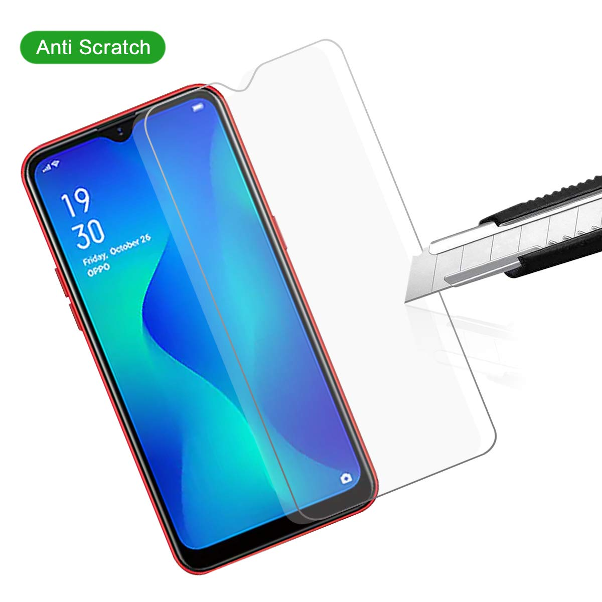 Protective tempered glass for OPPO A1K screen protector glass on for OPPO A1K screen protective guard