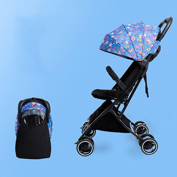 Крошечная детская коляска с пятиточечным ремнем безопасности, легкая алюминиевая рама, Эргономичная конструкция, коляска для новорожденны...