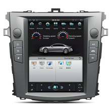 Android7.1 Tesla style 10.4 inch Car No DVD Player GPS Navigation For Toyota Corolla 2007-2013 stere