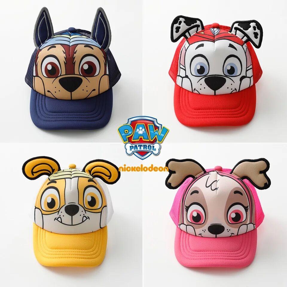 2018 genuino pata patrulla algodón de verano de los niños sombreros gorras gorros y sombreros sombrero cachorro imprimir fiesta de cumpleaños de los niños juguete de regalo