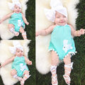 Jumpsuit Outfits Bodysuits Baby Girl Clothing 0-18M Cute Baby Girl Clothing Costume Cute Bunny Rabbit Cotton Blue Bodysuits