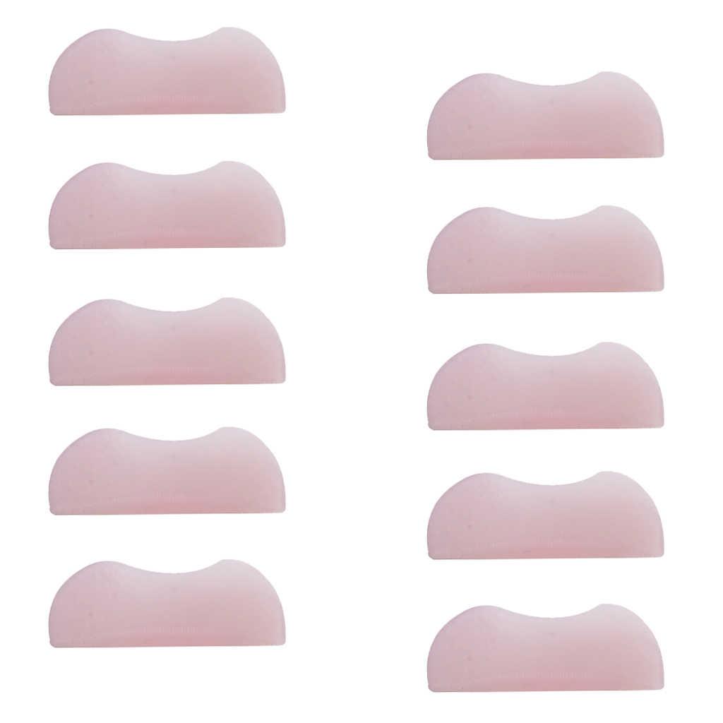 10 pezzi/5 Pairs Assortiti Dimensione Del Silicone di Colore Rosa Ciglia Bigodino di Curling Radice di Sollevamento Perming Ciglia Shield Pads