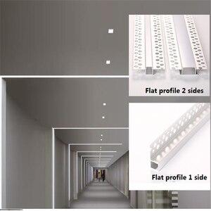 Image 2 - 5 30 adet/grup 2m 80 inç led lineer striip konut alçı kurulu gömülü led alüminyum profil, çift sıra 20mm bant işık kanalı