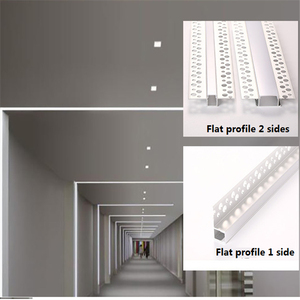 Image 2 - 5 30pcs/lot 2m 80inch led linear striip housing plaster board embedded led aluminium profile ,double row 20mm tape light channel