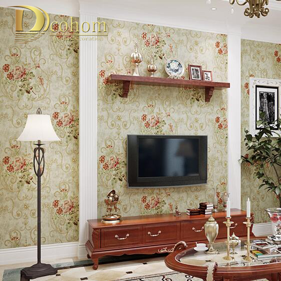 Wall paper roses promotion shop for promotional wall paper for Schlafzimmer vintage