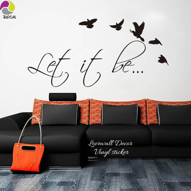 The Beatles Music Song Lyrics Let It Be Wall Sticker Kids Room