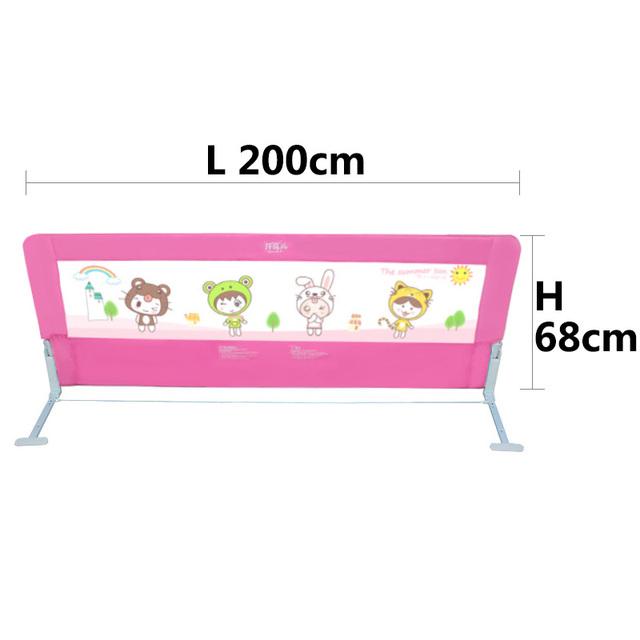 Calidad bebé barandilla de la cama plegable fácil uso duradero el uso general de color rosa y azul 120 cm 150 cm 180 cm y 200 cm