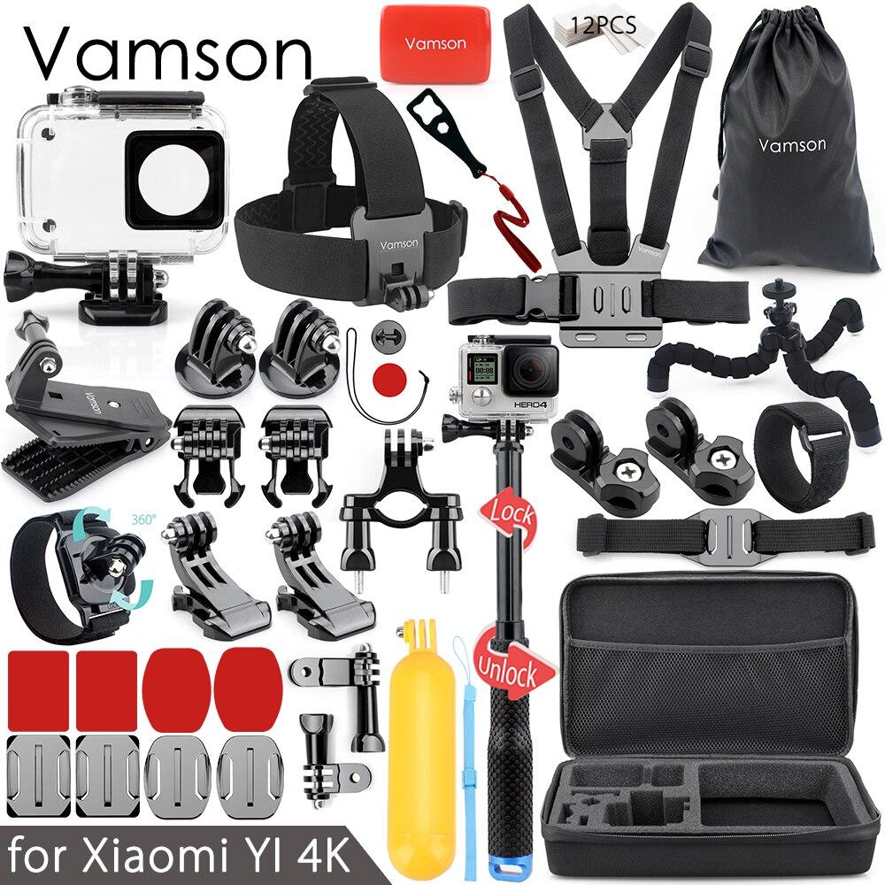 Vamson Accessories for Xiaomi yi 4K Accessories Kit for xiaomi yi 1 for xiaom yi 2 Mount Dotted Texture Monopod VS92 the yijia yi 1 1 x 001