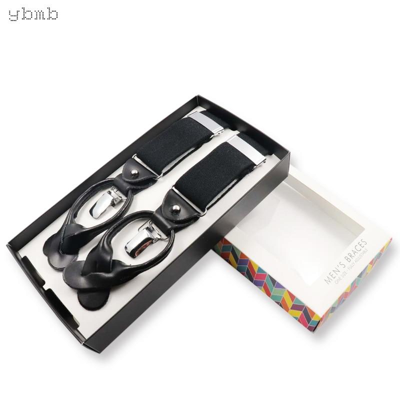YBMB Fashion Shirt Suspengders Men Gift Novelty Stripe Y  Shape  Men Gift Novelty Stripe Two Forms Dermis High Quality