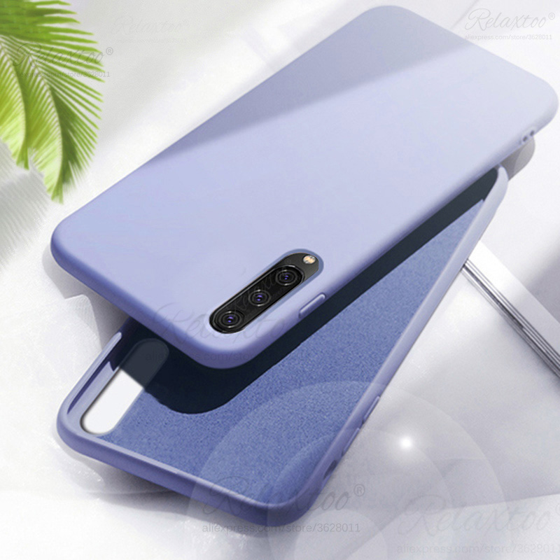 Liquid Silicone Phone Case for samsung galaxy A50 A40 A <font><b>50</b></font> <font><b>40</b></font> Case A505F A405F Fundas Shockproof Soft TPU Full Protective Cover image
