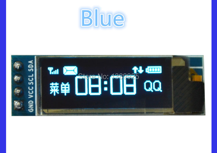 5pcs/lot 0.91 inch OLED module 0.91 Blue OLED 128X32 OLED LCD LED Display Module 0.91 IIC Communicate