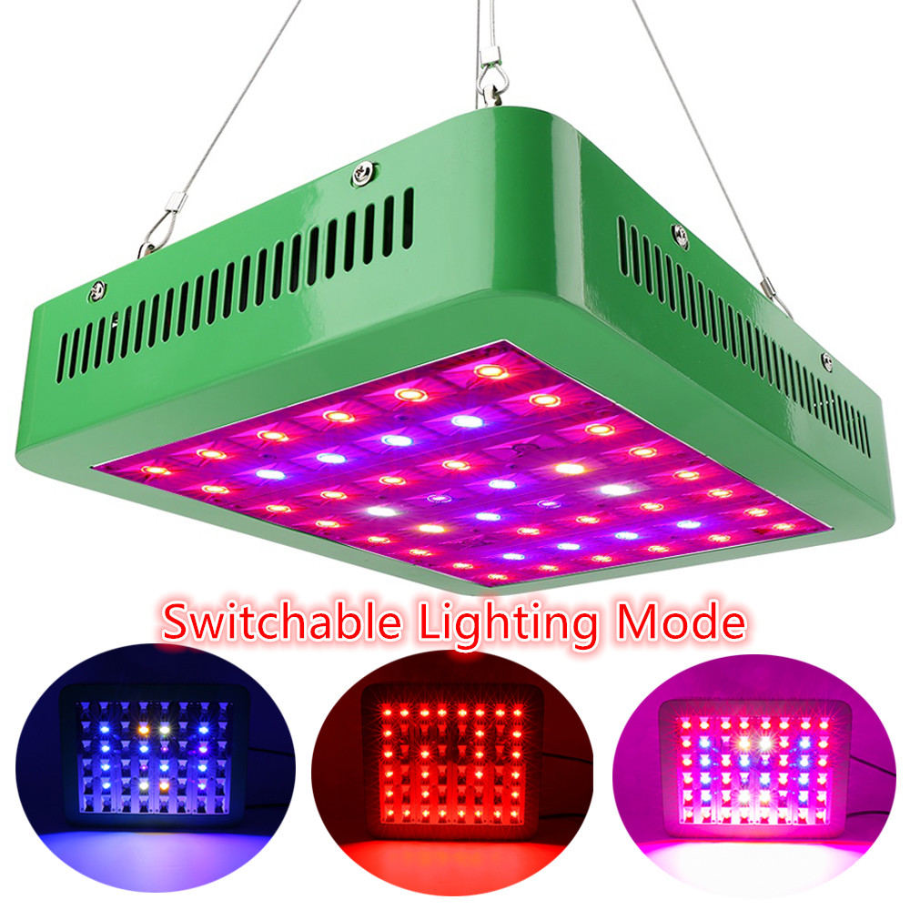 Switchable LED Grow Light 300W Full Spectrum Grow Lamp AC85 265V For Indoor Plant Greenhouse Hydroponic