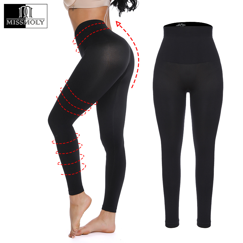 Miss Moly Woman Workout   Leggings   Fitness Leggins Black Nylon legins High Waist Female Sport Push Up Slimming Control Panty