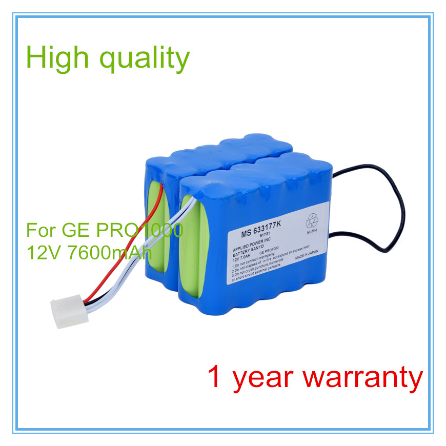Replacement For 10N-2P17650,MS622177K51731,MS633177C,PRO1000,PRO1006,PRO1008,PRO1009 Vital Signs Monitor ECG battery