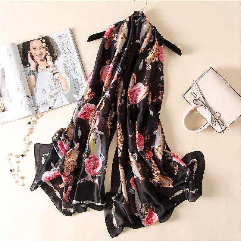 Women Fashion Printing   Scarf     Wraps   Silk   Scarf   Printing Muffler Bandana Beach Holiday   Scarf   Drop Shipping 180*90cm