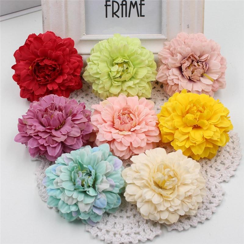 2017 5pcs Multicolor Silk 6cm Marigold Artificial Flowers For Wedding Party Home Decoration Mariage Calendula Simulation Flowers