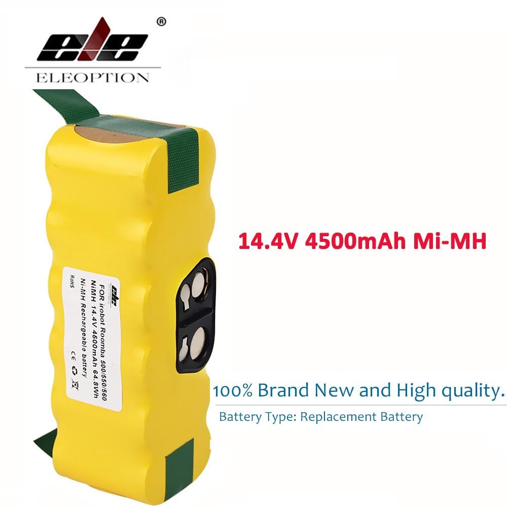 ELEOPTION 14,4 V 4500 mAh batería para iRobot Roomba 560 530 510 562 550 570 500 581 610 620 630 650 780 532 770 760 860 870