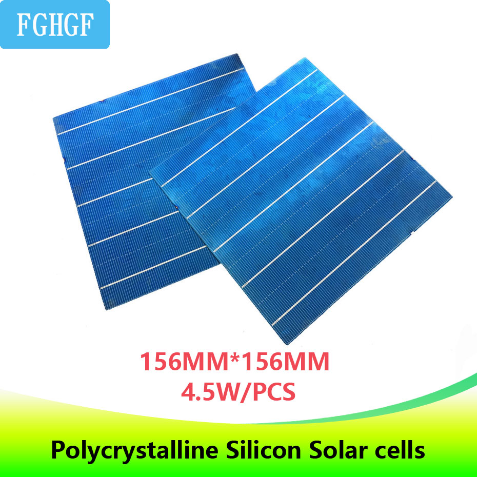 20Pcs 5BB Photovoltaic Polycrystalline Solar Cells 4.5W 156.75*156.75MM 6x6 DIY Solar panel/Battery Charger For electronics-in Solar Cells from Consumer Electronics