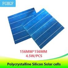 20Pcs 5BB พลังงานแสงอาทิตย์ Polycrystalline Solar Cells 4.5W 156.75*156.75MM 6x6 DIY แผงพลังงานแสงอาทิตย์/ แบตเตอรี่สำหรับ electronics