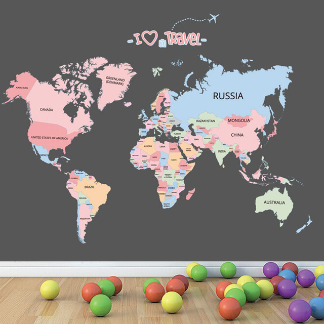 World travel world map wall stickers vinyl diy world map wall decals world travel world map wall stickers vinyl diy world map wall decals for living room office gumiabroncs Images