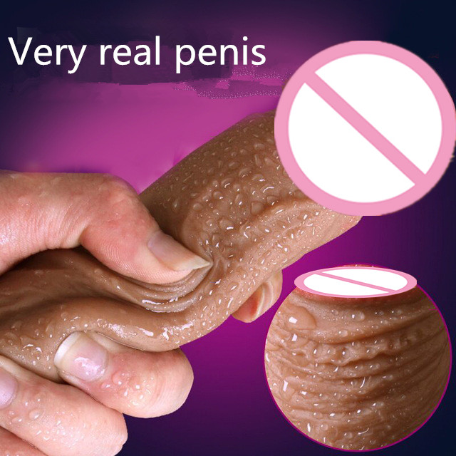 Super Soft Silicone <font><b>Dildo</b></font> Realistic Suction Cup <font><b>Dildo</b></font> Male Artificial Penis Dick Female Masturbator <font><b>Adult</b></font> <font><b>Sex</b></font> <font><b>Toys</b></font> For Women image
