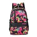 Women&Men Printing Backpack Fashion School Floral Bags Zipper Nylon Waterproof Soft Handle Bagpack Mochila Mochila Escolar 1033